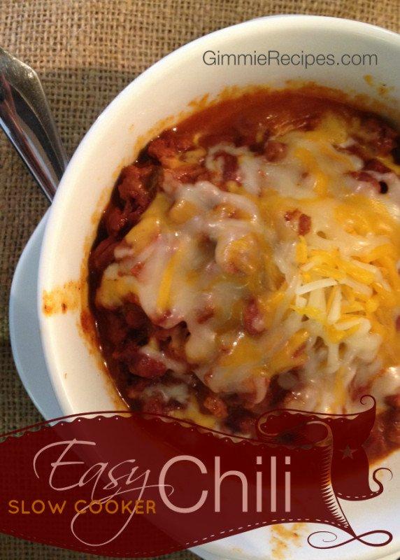 Easy Slow Cooker Chili Recipe
