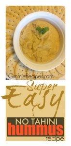 Super Easy Hummus Recipe with No Tahini