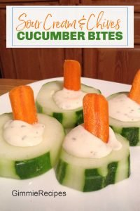 Sour Cream & Chives Cucumber Bites Recipe {Great After School Snack}