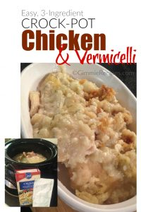 Crock-Pot Chicken & Vermicelli Recipe {Easy, 3 Ingredients}