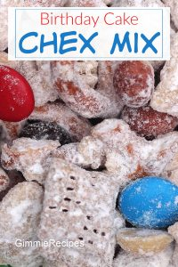 Birthday Cake Puppy Chow Recipe (Muddy Buddies Chex Mix)