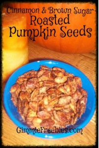 Cinnamon & Brown Sugar Roasted Pumpkin Seeds